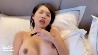 台湾SWAG【imkowan】巨乳女神气质白富美露脸口交多姿势爆操奶子